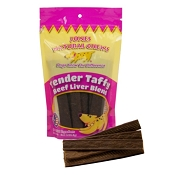 Jones Natural Chews Tender Taffy Beef Liver Jerky Dog Treats, 8-oz Bag