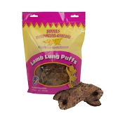 Jones Natural Chews Lamb Lung Puffs Dog Treats