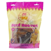 Jones Natural Chews USA Cow Hooves for Dogs, Bag of 6