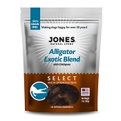 Jones Select Alligator Exotic Blend Dog Treats, 3-oz Bag
