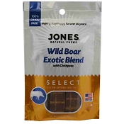 Jones Select Wild Boar Exotic Blend Dog Treats, 3-oz Bag