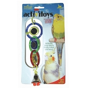 JW Pet Activitoy Triple Mirror With Bell Bird Toy