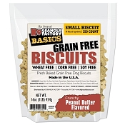 K9 Granola Factory Basics Grain-Free Biscuits Peanut Butter Recipe Dog Treats, Small