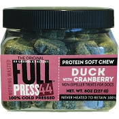 K9 Granola Factory FULL Press 44 Cold Pressed Duck with Cranberry Dog Treats, 8-oz