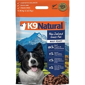 K9 Natural Beef Feast Raw Freeze-Dried Dog Food, 8-lb Bag