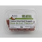 K.C.C. Natural Farms Freeze-Dried Beef Nuggets Dog & Cat Treats, 2.4-oz