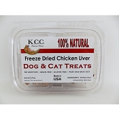K.C.C. Natural Farms Freeze-Dried Chicken Liver Dog & Cat Treats, 3.4-oz