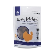 K.C.C. Natural Farms Freeze-Dried Turkey Hearts Dog & Cat Treats, 3.4-oz