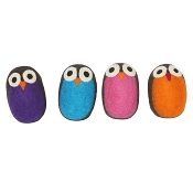 Lollycadoodle Boiled Wool Owl Dog Toys
