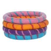 Lollycadoodle Boiled Wool Ring Dog Toys, Large