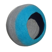 Lollycadoodle Wool Cat Cave, Blue