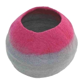 Lollycadoodle Wool Cat Cave, Pink