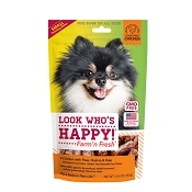 Look Who's Happy Chicken with Peas, Quinoa and Kale Small Training Bites Dog Treats, 10-oz Bag