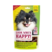 Look Who's Happy Duck with Peas, Quinoa and Kale Small Training Bites Dog Treats, 10-oz