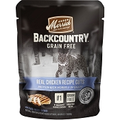 Merrick Backcountry Grain-Free Chicken Recipe in Gravy Cat Food Pouches, 3-oz, case of 24