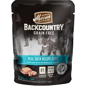 Merrick Backcountry Grain-Free Duck Recipe in Gravy Cat Food Pouches, 3-oz, case of 24