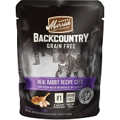 Merrick Backcountry Grain-Free Rabbit Recipe in Gravy Cat Food Pouches, 3-oz, case of 24