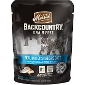 Merrick Backcountry Grain-Free Whitefish Recipe in Gravy Cat Food Pouches, 3-oz, case of 24