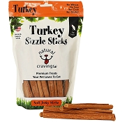 Natural Cravings Turkey Sizzle Sticks Dog Treats, 12-oz Bag