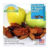 New Health Pet Products Chicken & Apple Jerky Wraps for Dogs, 4-oz Bag
