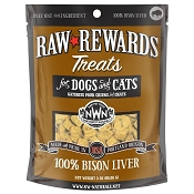 Northwest Naturals Raw Rewards Freeze-Dried Bison Liver Dog & Cat Treats