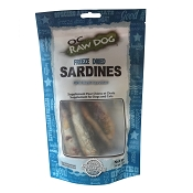 OC Raw Freeze-Dried Sardines Dog Treats, 3.2-oz Bag