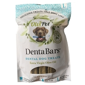 OlviPet DentaBars Olive Oil Dental Dog Treats, Large