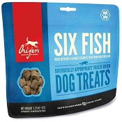 ORIJEN Six Fish Freeze-Dried Dog Treats, 3.25-oz Bag