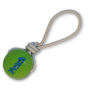 Planet Dog Orbee-Tuff Fetch Ball with Rope Dog Toy, Green