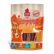 Plato Thinkers Chicken Meat Stick Dog Treats, 10-oz Bag