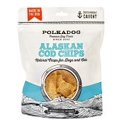 Polka Dog Bakery Cod Chips Dog Treats, 3.5-oz Bag
