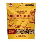 Polka Dog Chicken Littles Crunchy Dog Treats, 8-oz Bag
