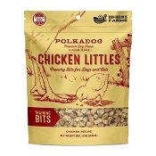 Polka Dog Chicken Littles Training Bits Crunchy Dog Treats, 8-oz Bag