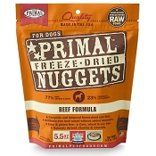 Primal Beef Formula Nuggets Freeze-Dried Dog Food, 5.5-oz Bag