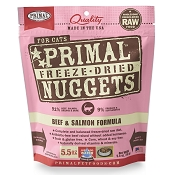Primal Beef and Salmon Nuggets Freeze-Dried Cat Food, 5.5-oz Bag