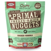 Primal Chicken Formula Nuggets Freeze-Dried Dog Food, 5.5-oz Bag