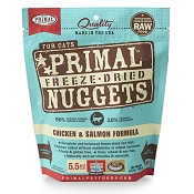 Primal Chicken and Salmon Nuggets Freeze-Dried Cat Food, 5.5-oz Bag