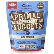 Primal Duck Formula Nuggets Freeze-Dried Dog Food, 5.5-oz Bag