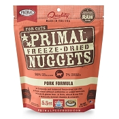 Primal Pork Nuggets Freeze-Dried Cat Food, 5.5-oz Bag