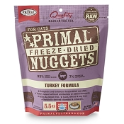 Primal Turkey Nuggets Freeze-Dried Cat Food, 5.5-oz Bag