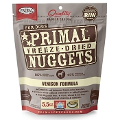 Primal Venison Formula Nuggets Freeze-Dried Dog Food, 5.5-oz Bag