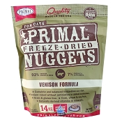 Primal Venison Formula Nuggets Freeze-Dried Cat Food