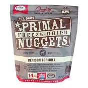 Primal Venison Formula Nuggets Freeze-Dried Dog Food