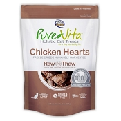 PureVita Chicken Hearts Freeze Dried Cat Treats, 0.8-oz Bag
