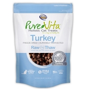 PureVita Turkey Freeze Dried Cat Treats, 1-oz Bag