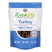 PureVita Turkey Freeze Dried Dog Treats, 2.2-oz Bag