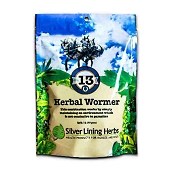 Silver Lining Herbs 13 Natural Wormer Equine Supplement, 1-lb