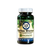 Silver Lining Herbs Canine #13 Herbal Wormer Supplement for Dogs, 90 Capsules