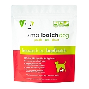 Small Batch Freeze-Dried Beef Recipe Sliders Dog Food, 14-oz Bag