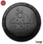 SodaPup Magnum Black Bottle Top Flyer Made in USA Dog Toy, Large
